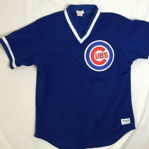 Vintage Mesh Chicago Cubs Baseball Jersey